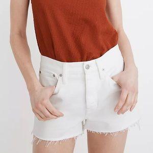 Madewell White Denim Cutoff Shorts